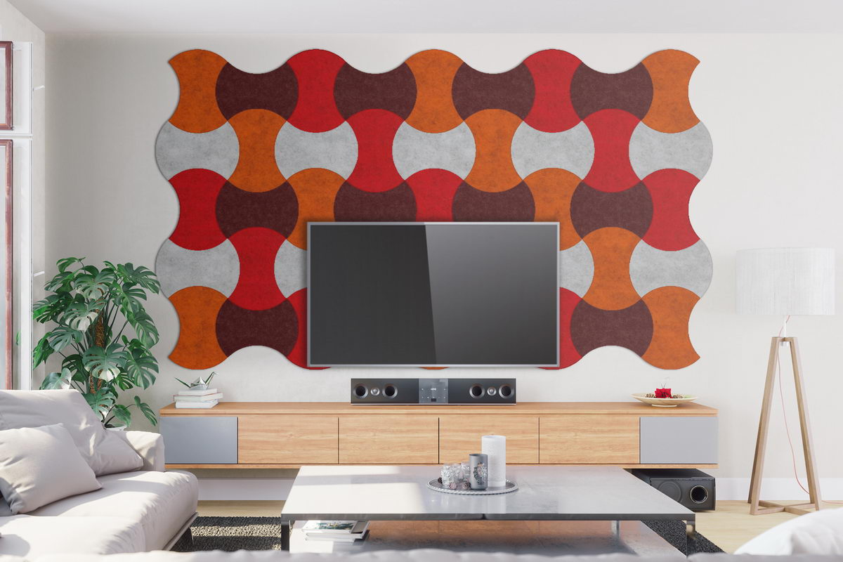 Walltone Acoustic Design ROUNDED red