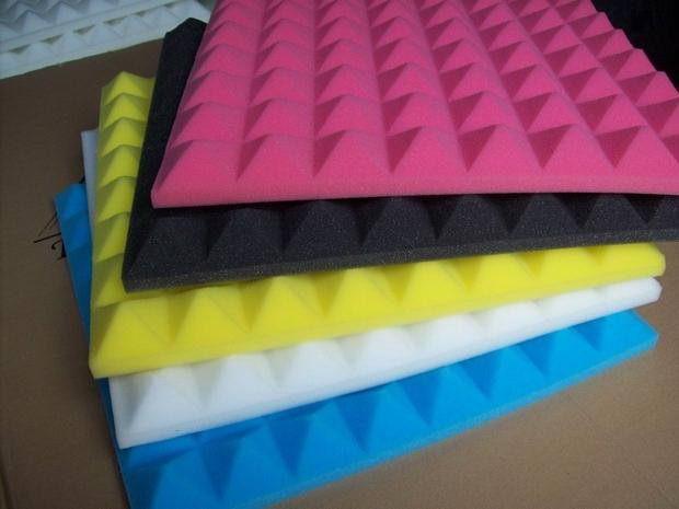 Pannelli fonoassorbenti piramidali in poliuretano resounder p for Fonoassorbenti pannelli
