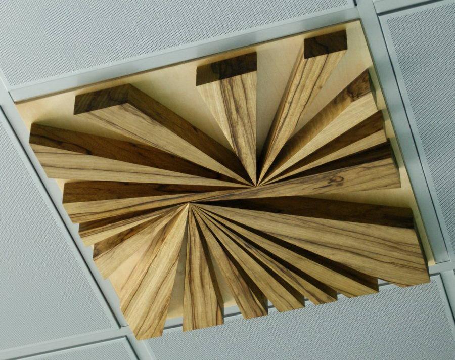 Pannelli acustici diffrattori acustico in legno serie w for Controsoffitto in legno